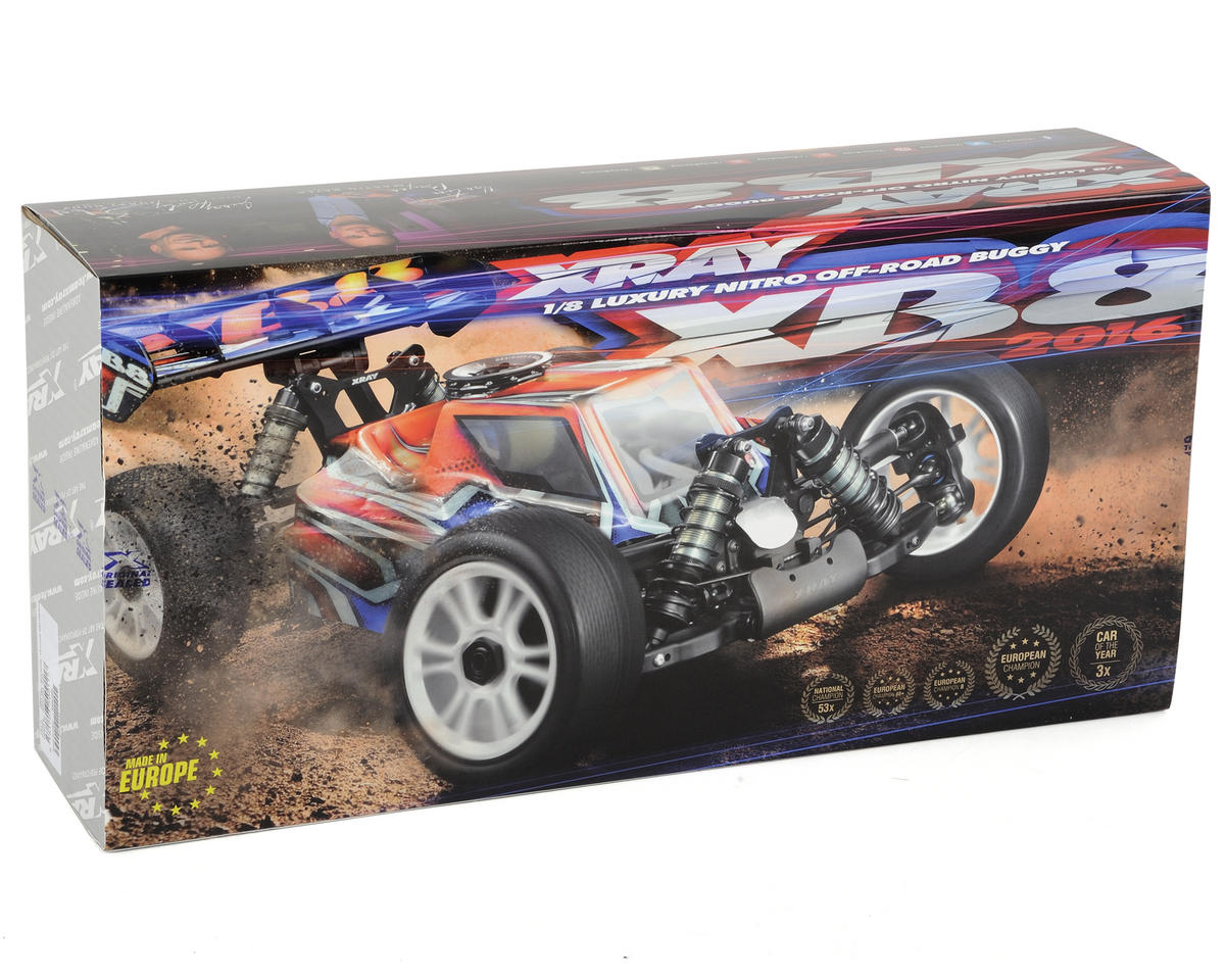 XRAY XB8 2016 Spec Luxury 1/8 Nitro Off-Road Buggy Kit