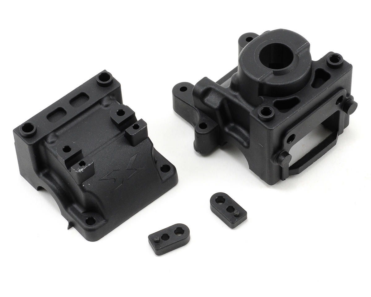 XRAY XB808E Front/Rear Differential Bulkhead w/Labyrinth Dust Covers (2010 Spec)