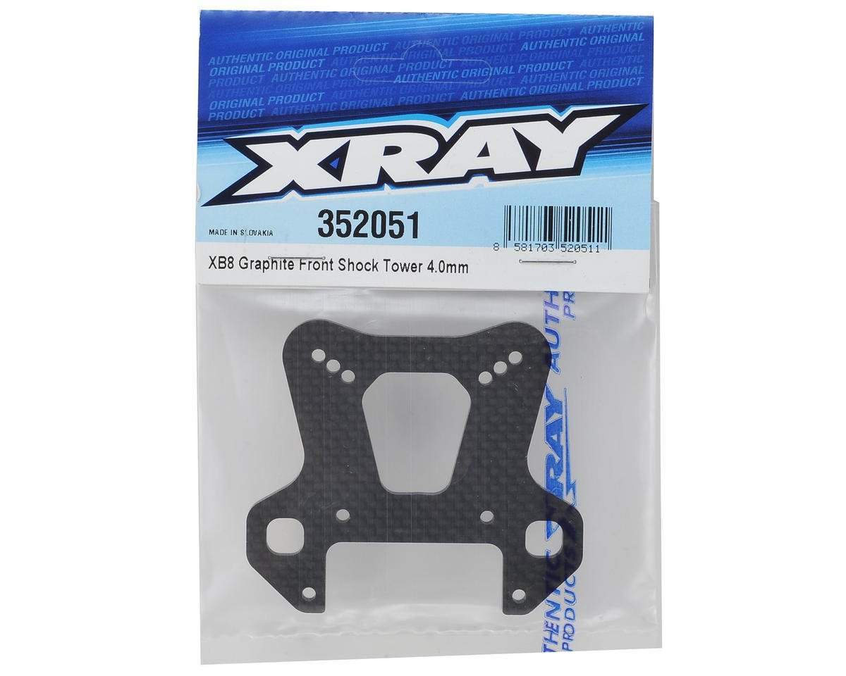 XRAY XB8 Graphite Front Shock Tower (4mm)
