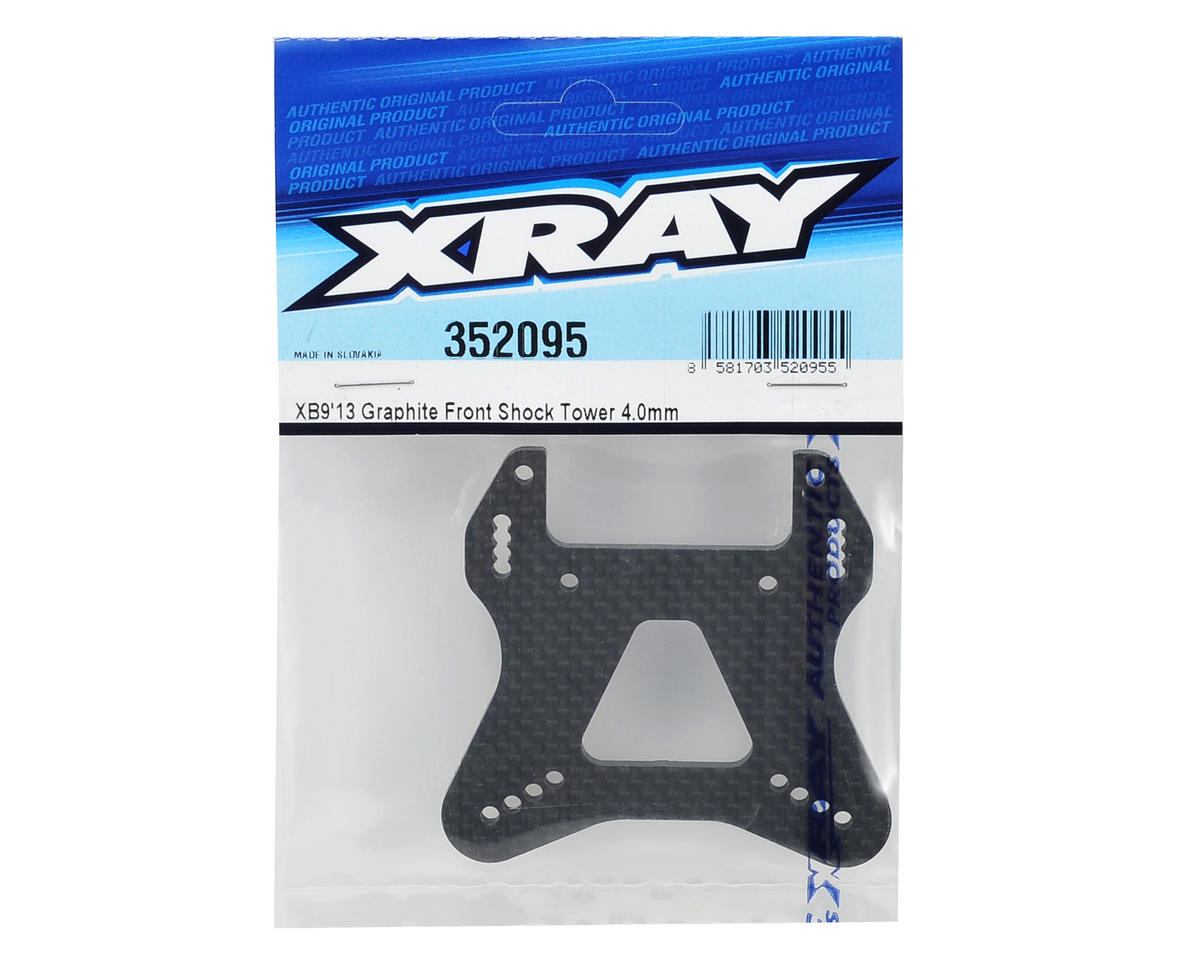 XRAY XB9 4mm Graphite Front Shock Tower