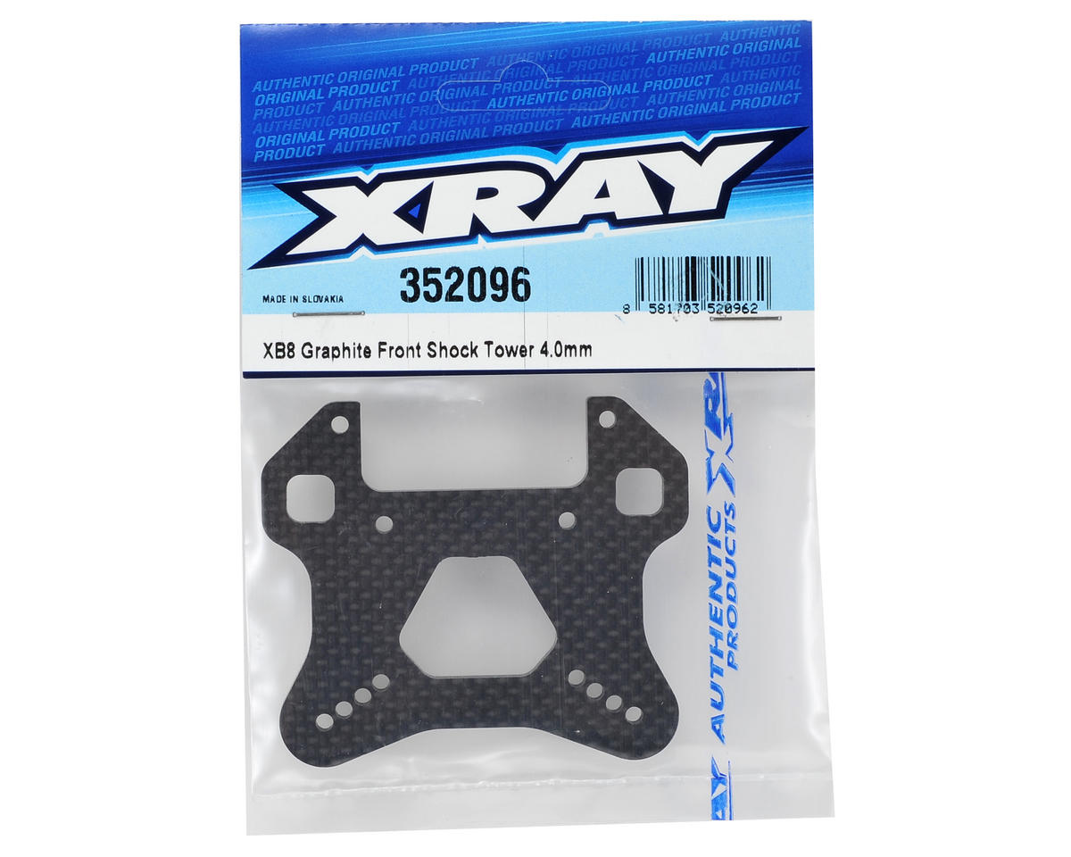 XRAY XB8 4mm Graphite Front Shock Tower