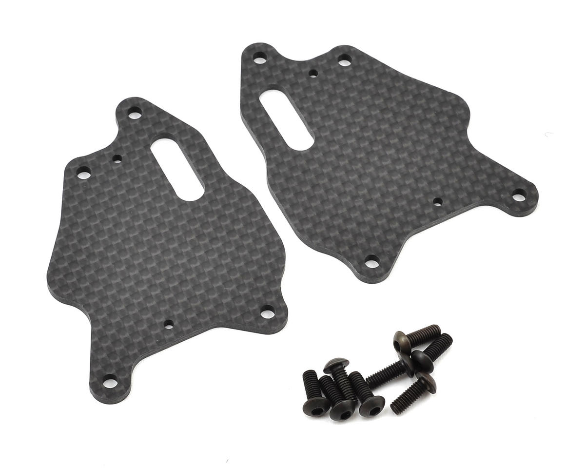 XRAY XB8E XB8 Graphite Front Lower Arm Plate (2)