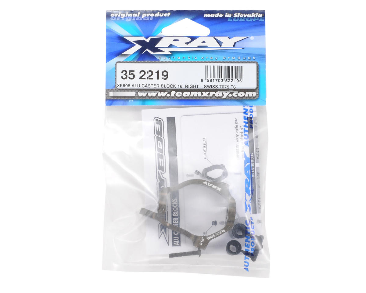 XRAY XB808 7075 T6 Aluminum Right 16° Caster Block