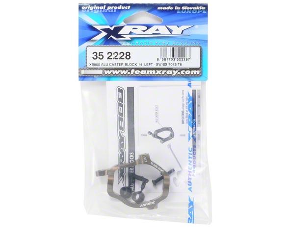XRAY 14° 7075 T6 Aluminum Left Caster Block