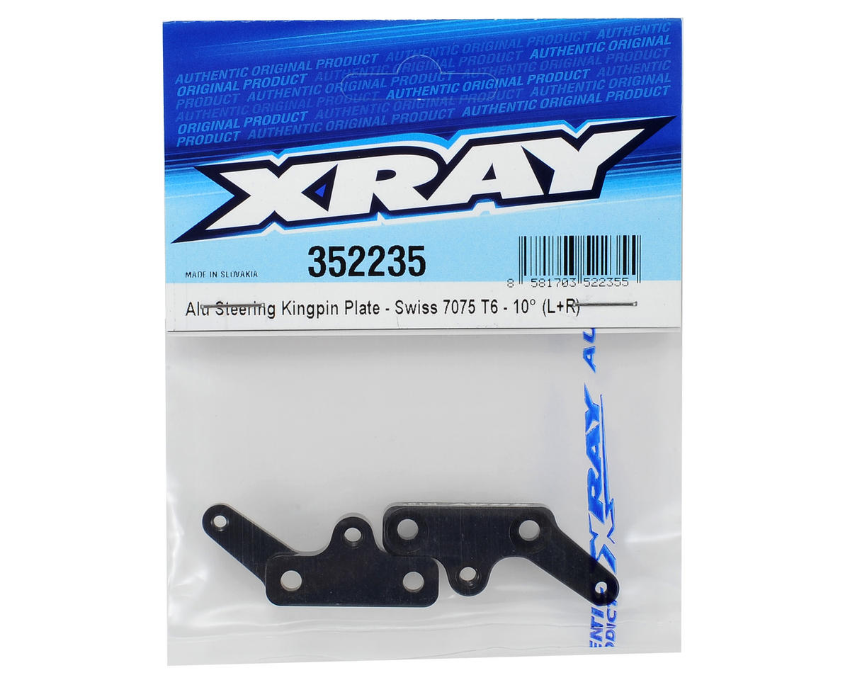 XB8 Aluminum Steering Kingpin Plate Set (10°) by XRAY