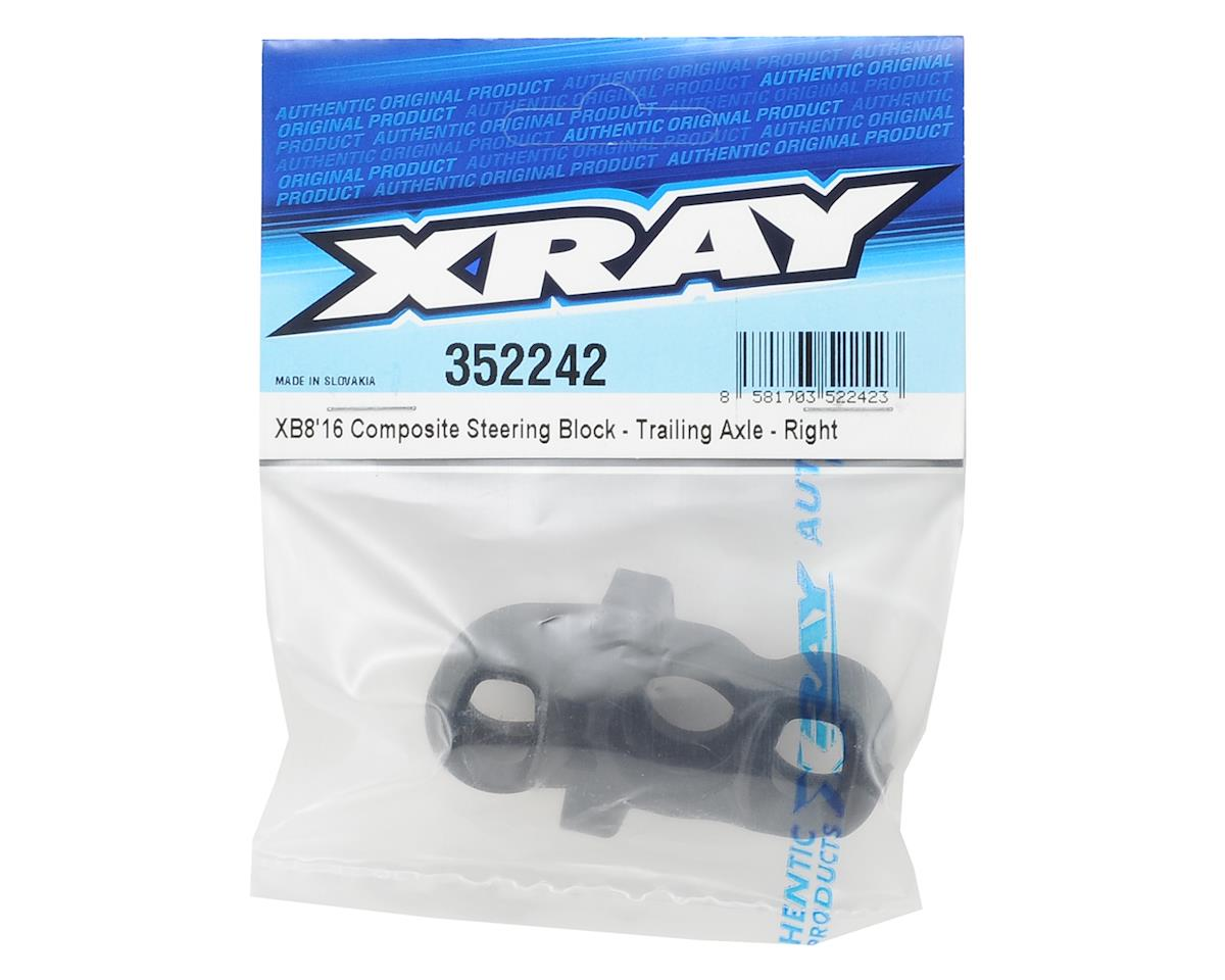 XRAY XB8 2016 Trailing Steering Block (Right)