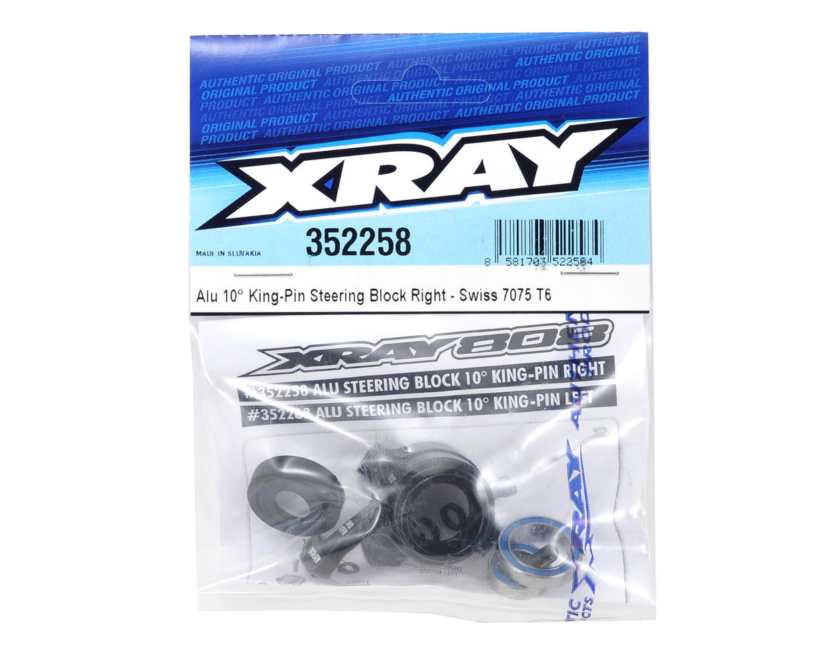 XRAY 10° Aluminum King Pin Steering Block Set (Right)