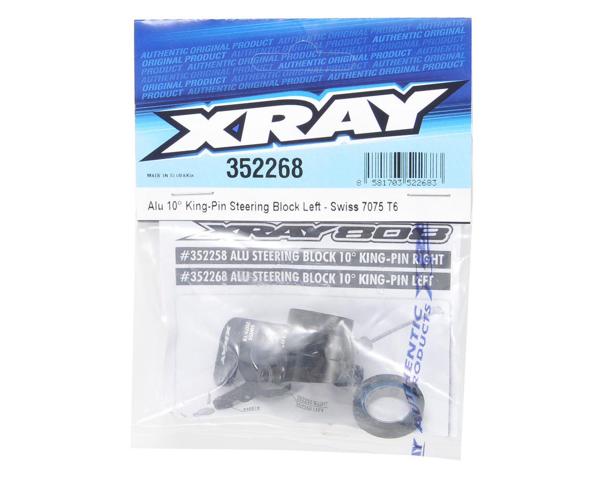 XRAY 10° Aluminum King Pin Steering Block Set (Left)