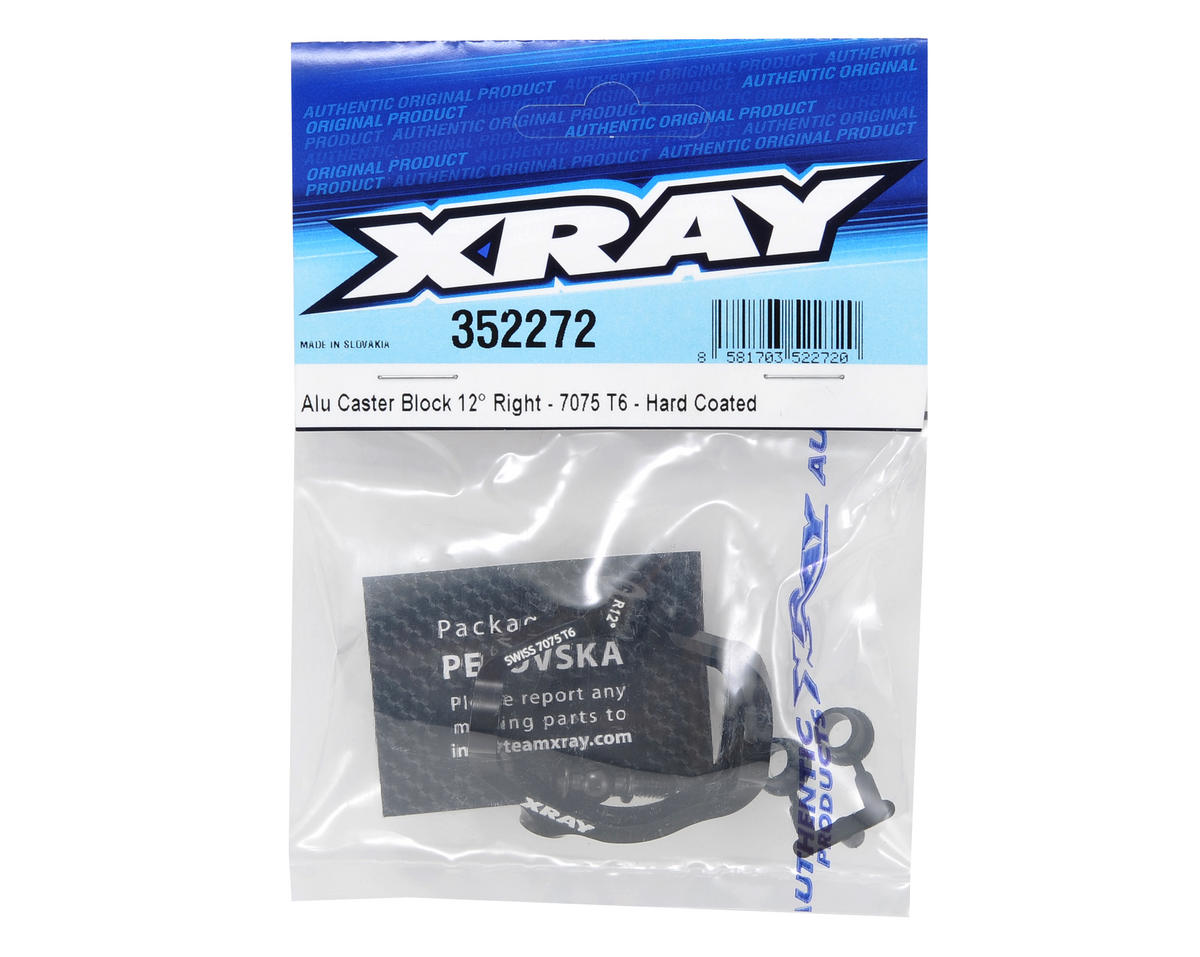 XRAY 12° 7075 T6 Hard Coated Aluminum Right Caster Block (Black)