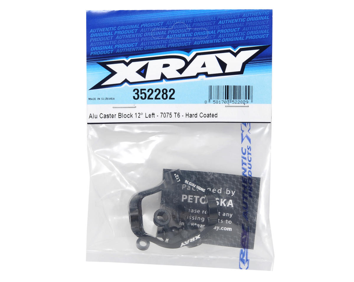 XRAY 12° 7075 T6 Hard Coated Aluminum Left Caster Block (Black)