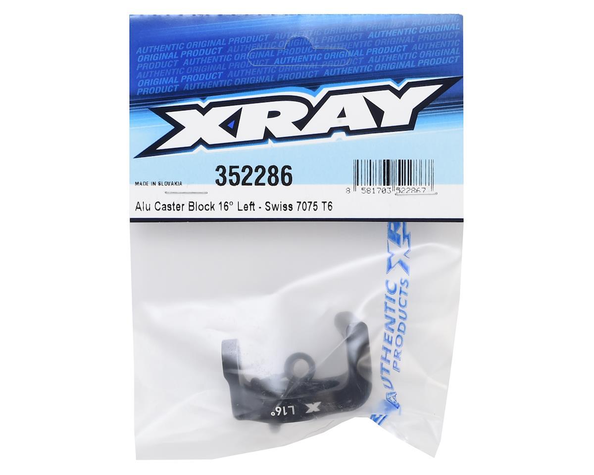 XRAY 16° Aluminum Left Caster Block