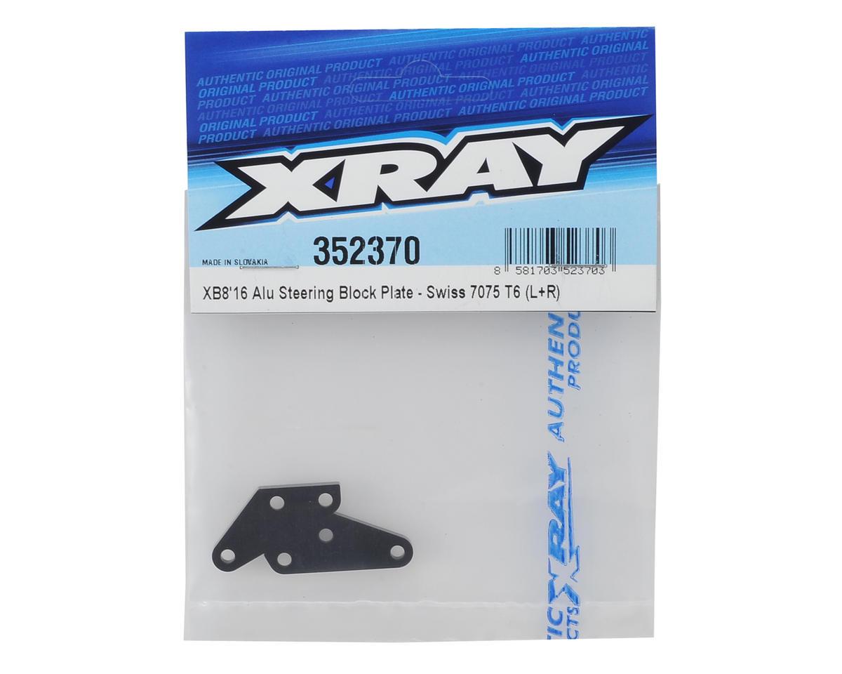 XRAY XB8 2016 Aluminum Steering Plate (L+R)