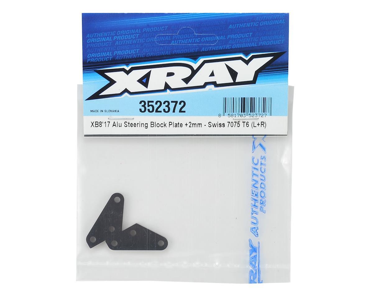XRAY +2mm Aluminum XB8 2017 Steering Plate Set