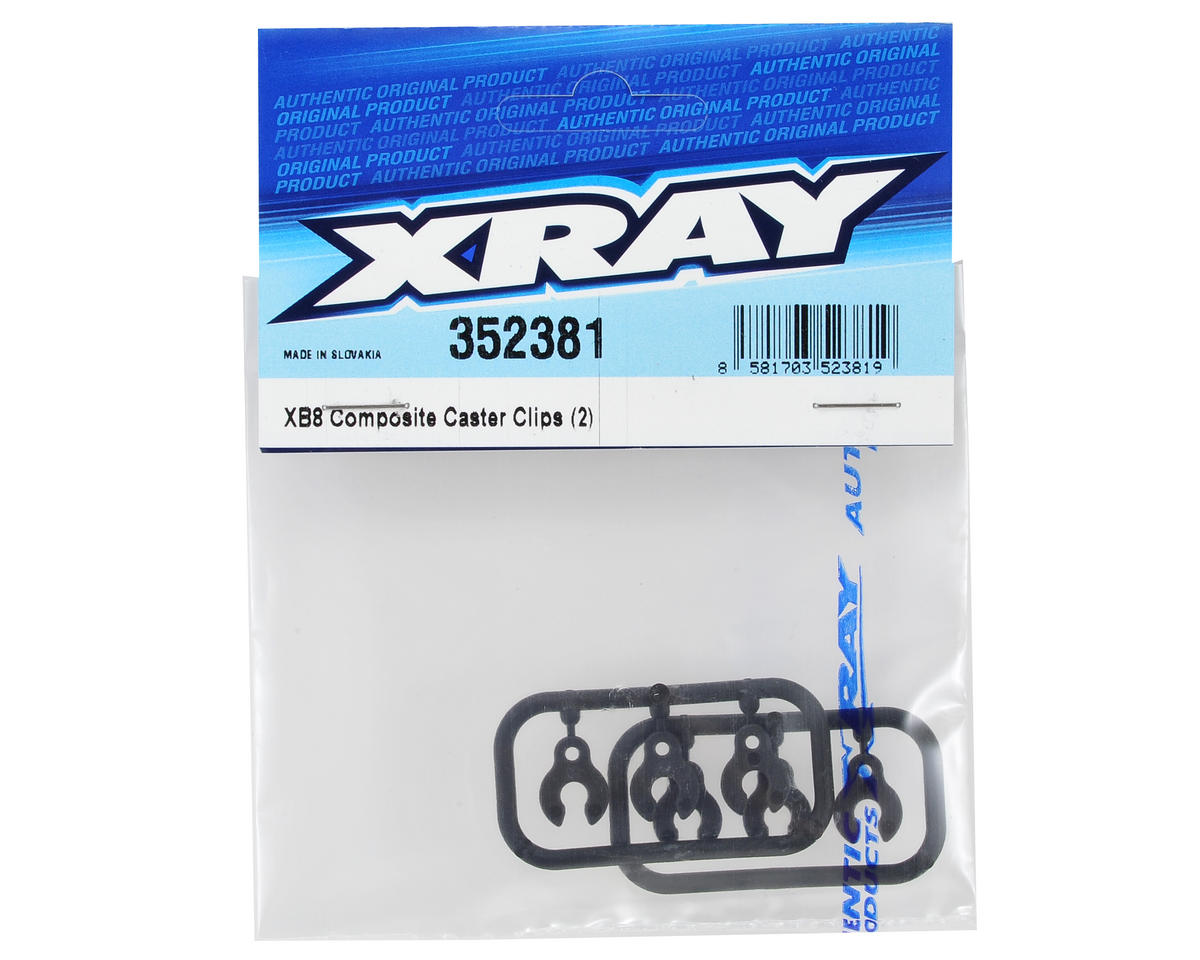 XRAY XB8 Caster Clip Set (2)