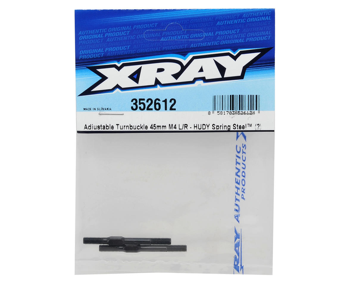 M4x45mm Adjustable Turnbuckle Set (2) (2013 Spec) by XRAY