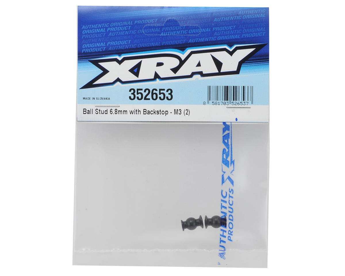 XRAY 6.8mm Ball Stud w/Backstop (2)