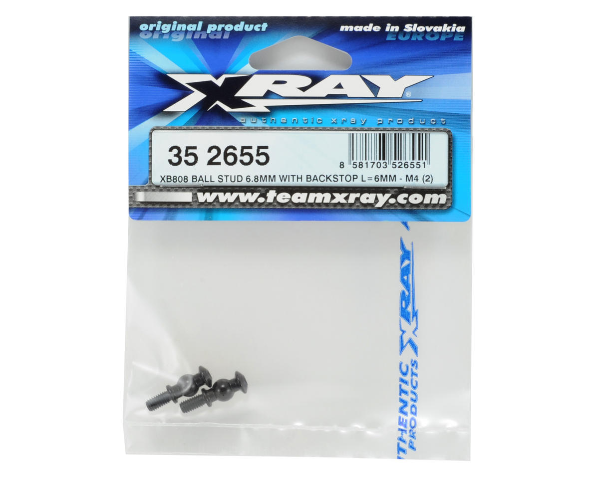 XRAY 6.8mm Backstop Ball Stud (2) (L=6mm-M4)