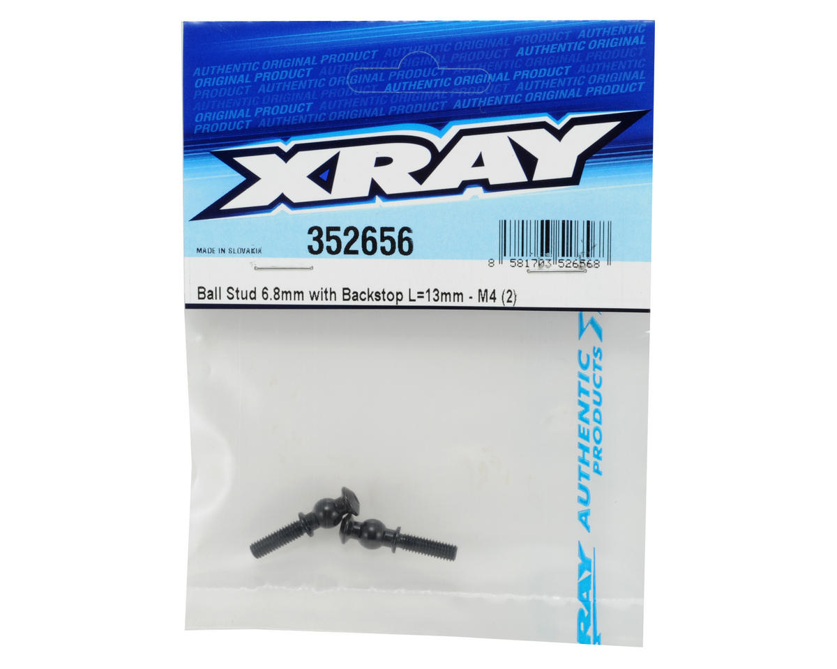 XRAY 6.8mm Backstop Ball Stud (2) (L=13mm-M4)