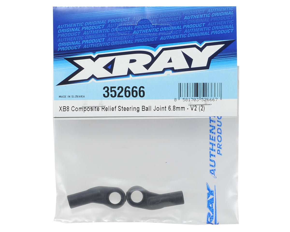 XRAY 6.8mm V2 Composite Relief Steering Ball Joint (2)