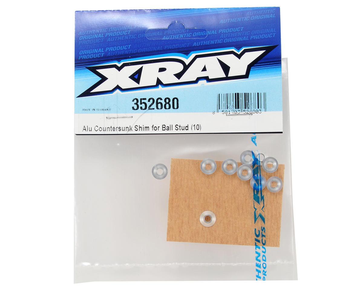 Aluminum Countersunk Ball Stud Shim (10) by XRAY