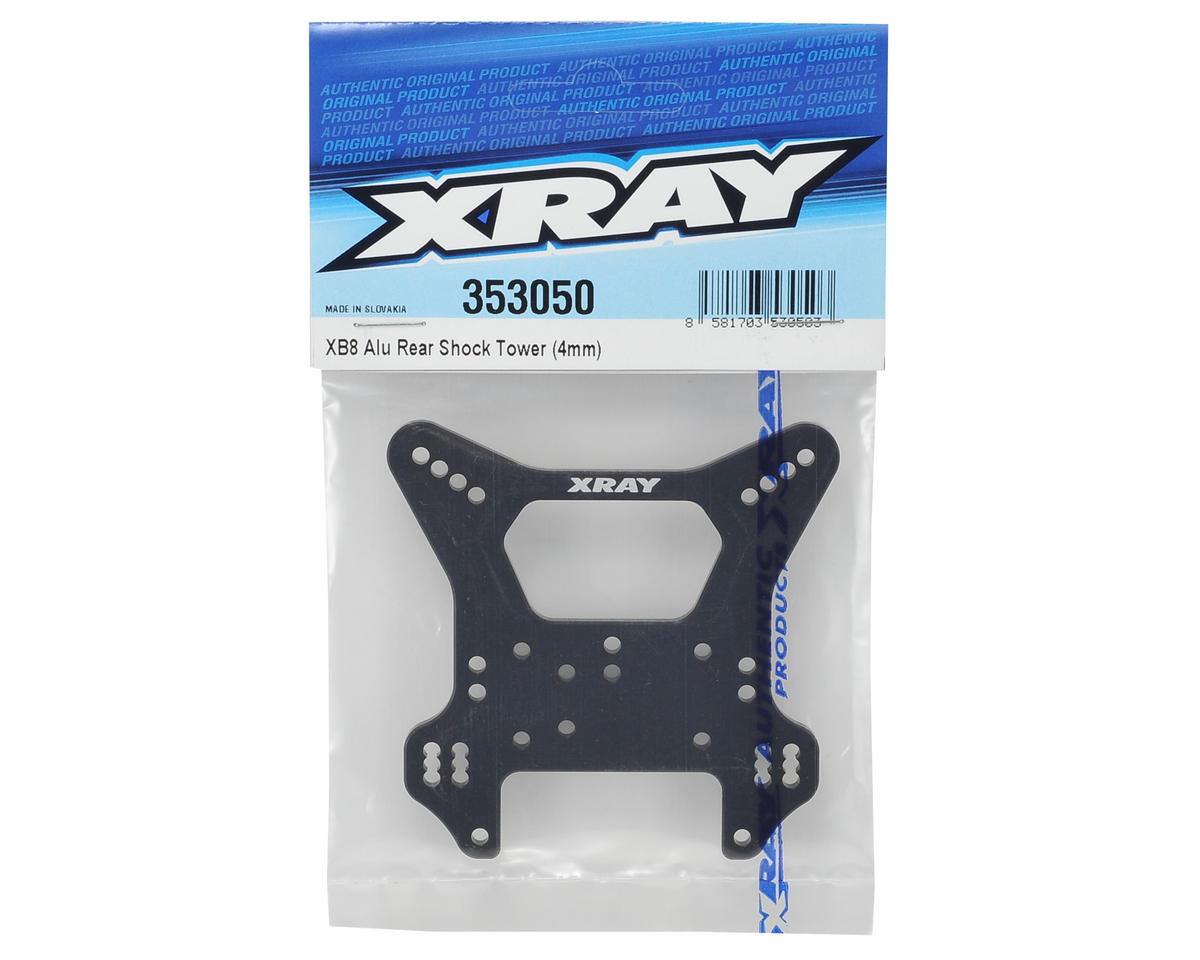 XRAY XB8 4mm Aluminum Rear Shock Tower