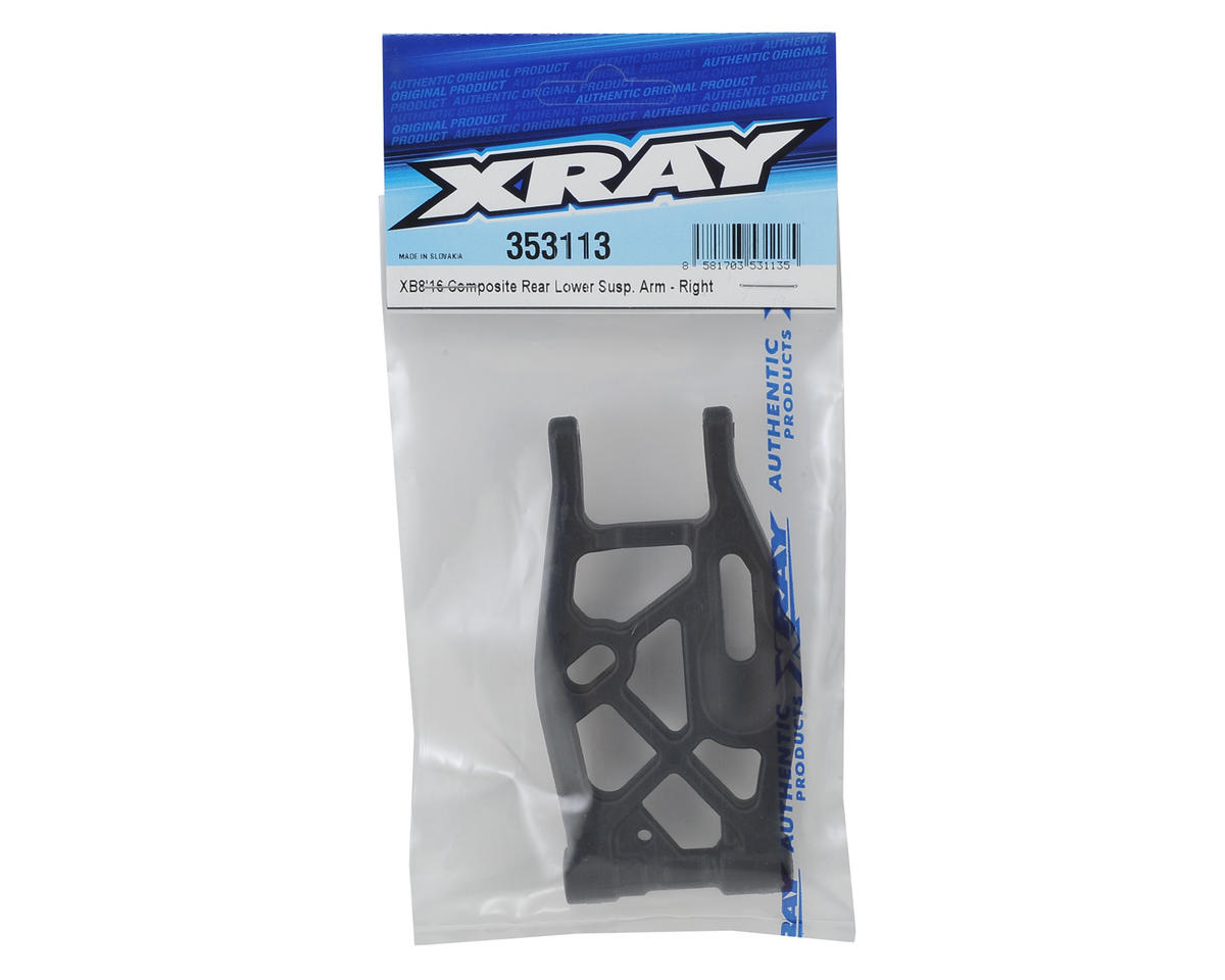 XRAY XB8 2016 Composite Rear Lower Suspension Arm (Right)