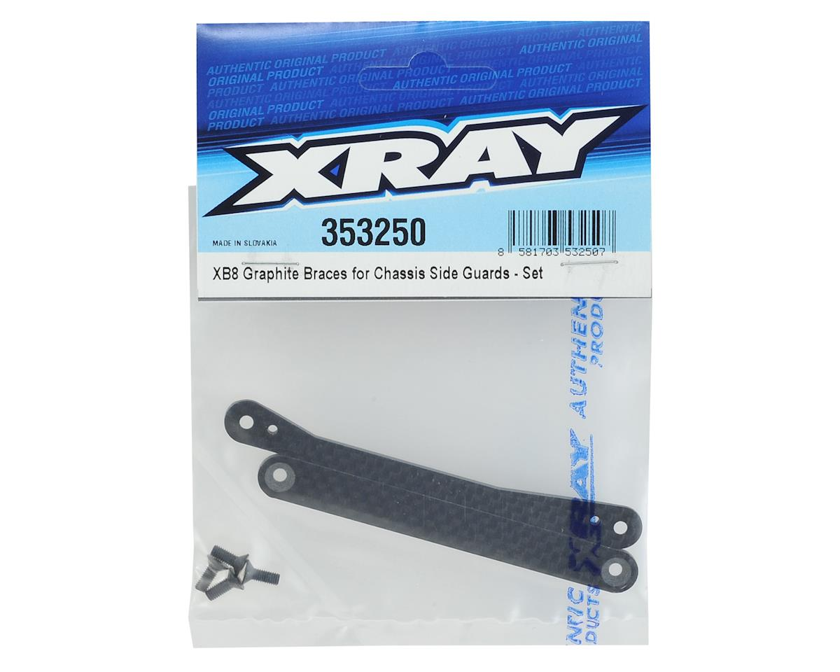 XRAY XB8 Chassis Side Guards Graphite Brace Set
