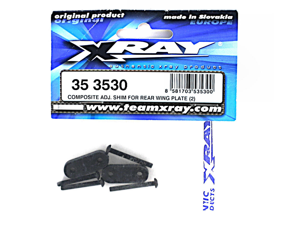 XRAY Composite Adjustment Shim For Rear Wing Plate (2)