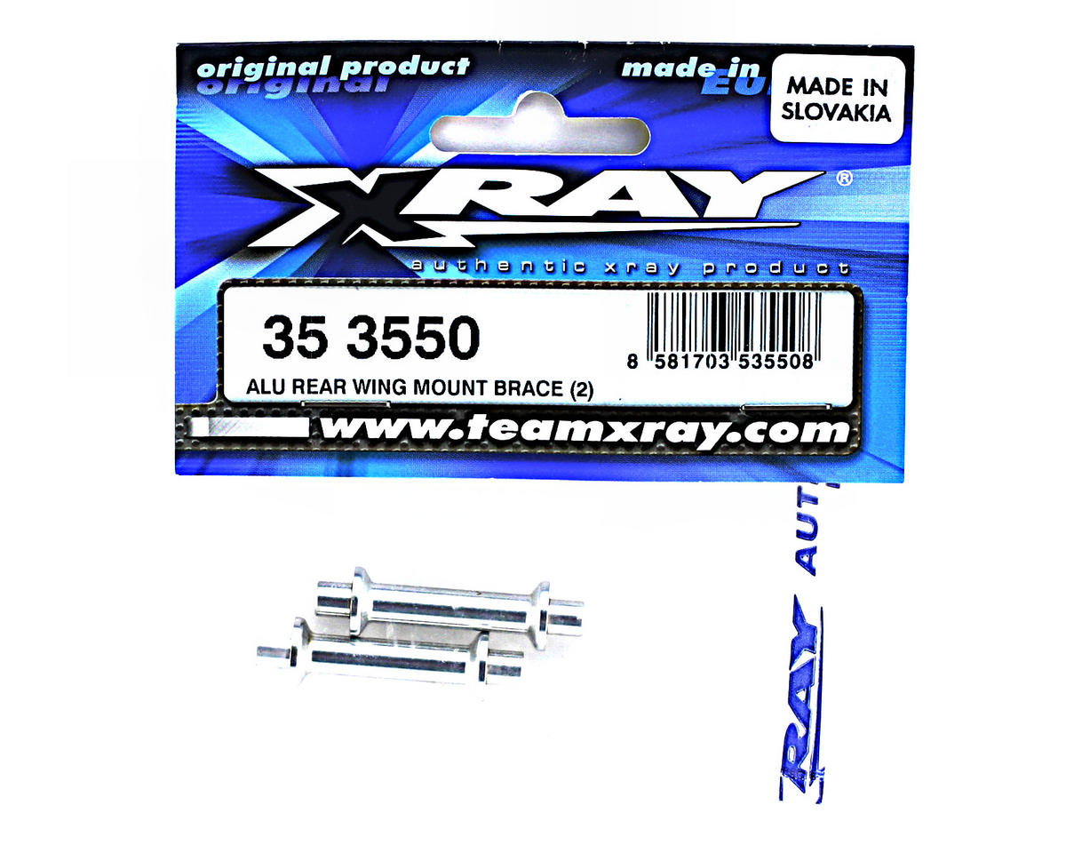 Aluminum Rear Wing Mount Brace (2) by XRAY