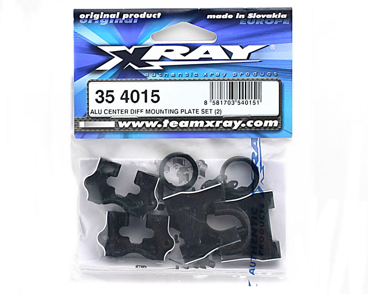 XRAY Aluminum Center Differential Mounting Plate Set (2)