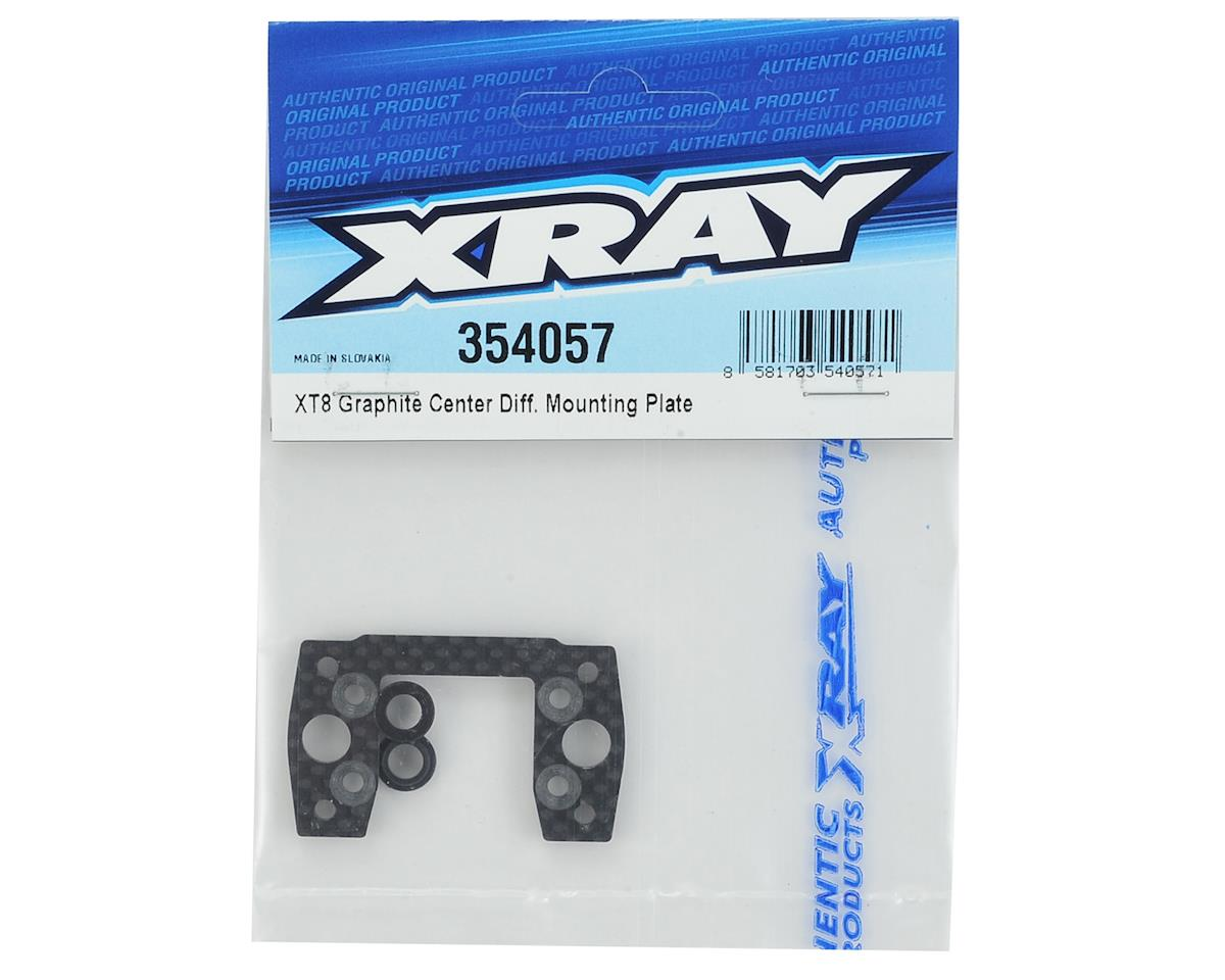 XRAY XT8 Graphite Center Differential Mounting Plate