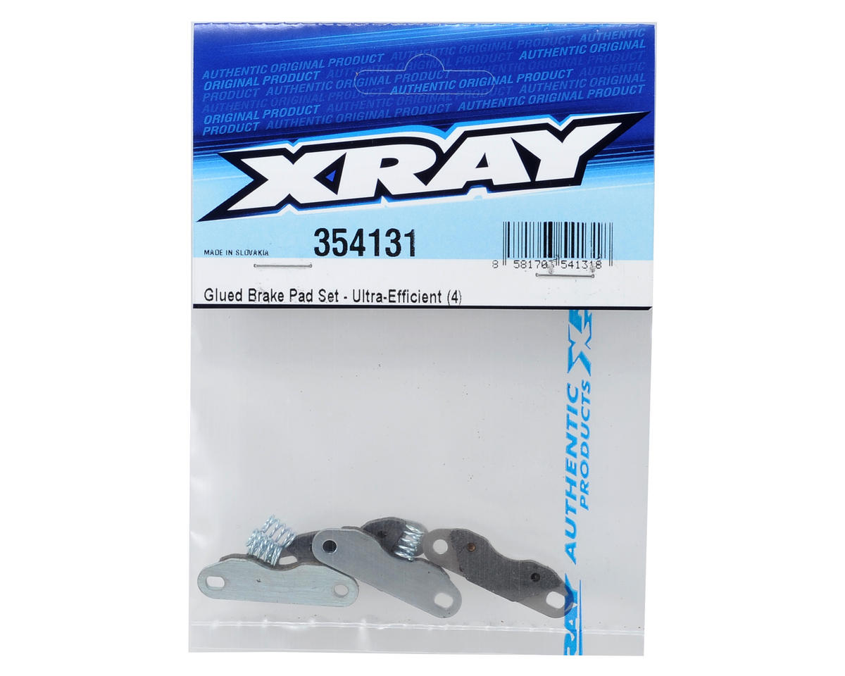 Ultra-Efficient Glued Brake Pad Set (4) by XRAY