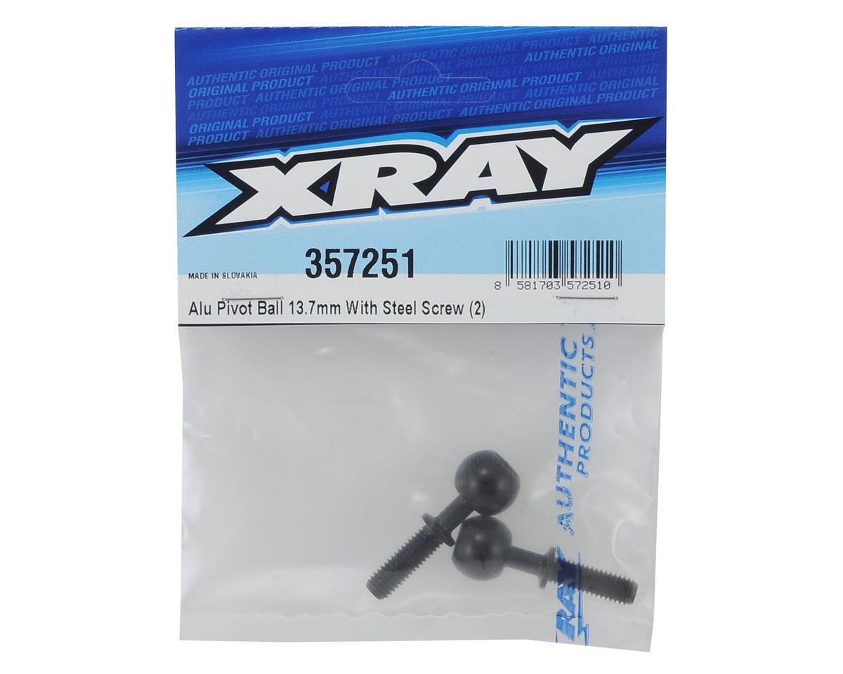 XRAY 13.7mm Aluminum Pivot Ball (2)