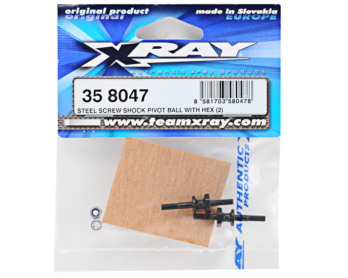 XRAY Steel Shock Pivot Ball Screw Set w/Hex (2)