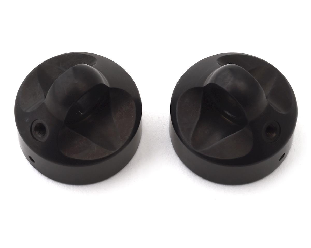 XRAY XB8 Aluminum Zero Rebound Shock Cap (Black) (2)