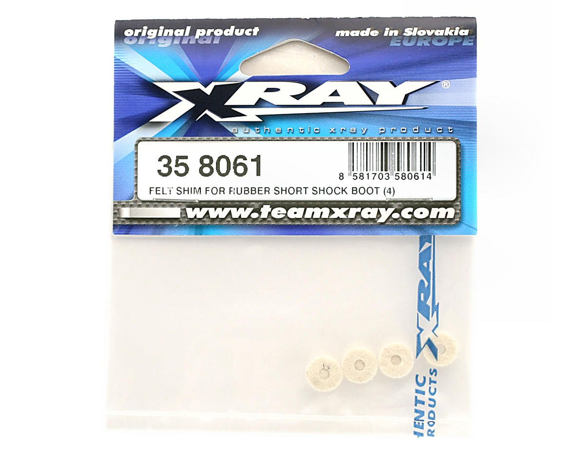 Felt Shim For Rubber Short Shock Boot (4) by XRAY