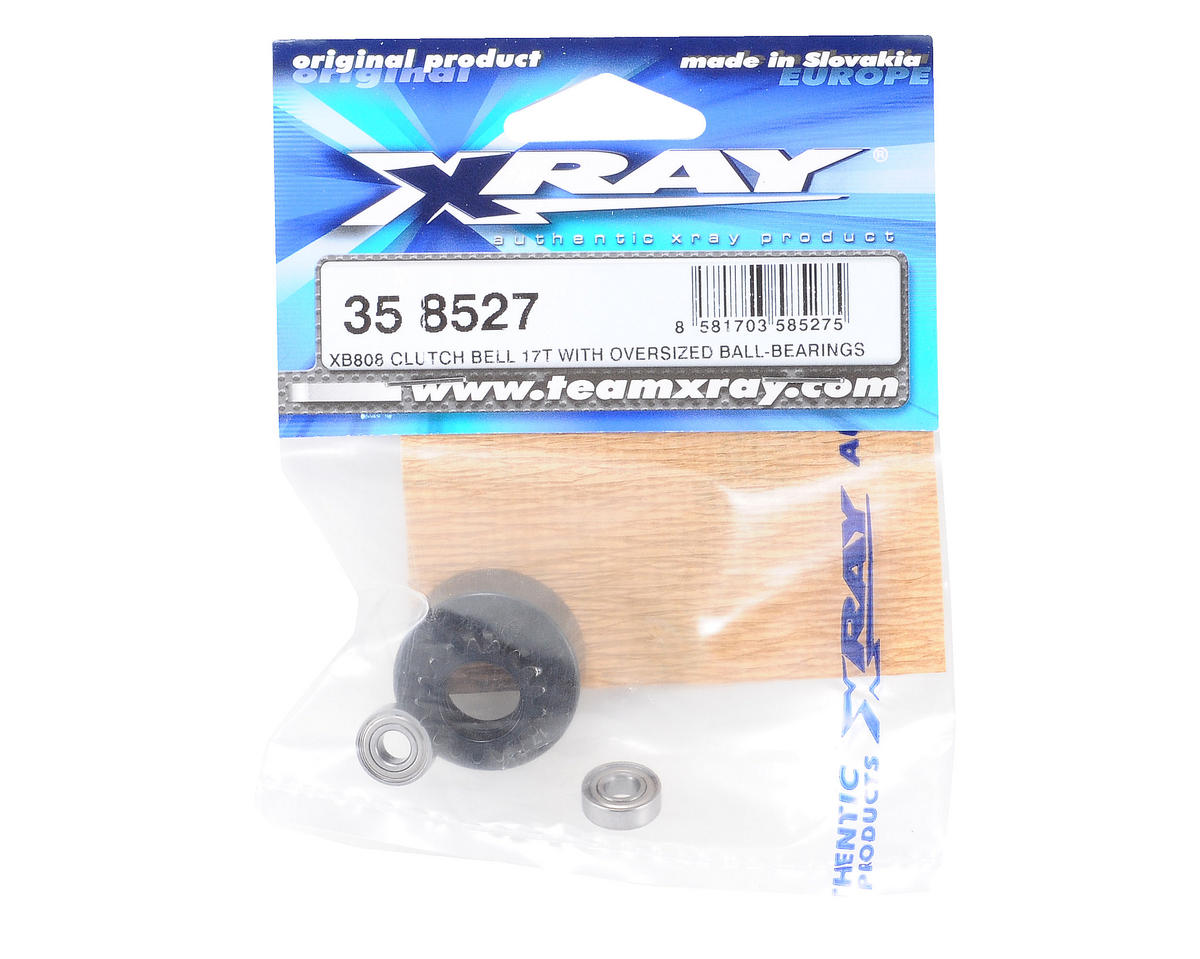 XRAY 17T Clutch Bell With Oversized 5x12x4mm Ball-Bearings (XB808)