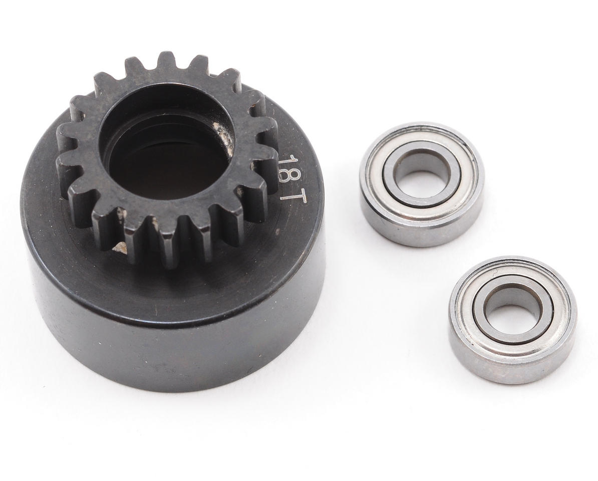 XRAY 18T Clutch Bell With Oversized 5x12x4mm Ball-Bearings (XB808)