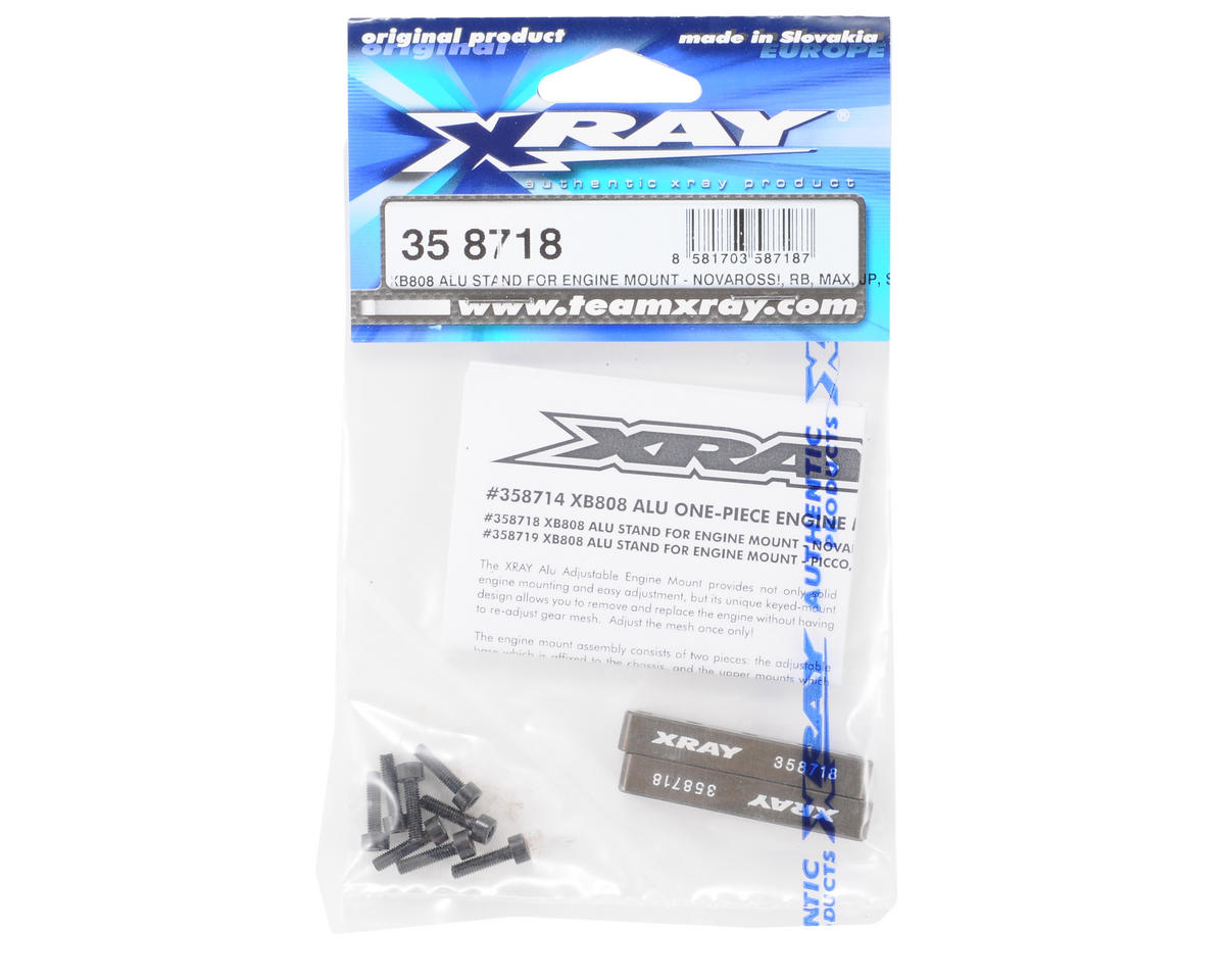 XRAY Hard Coated 7075 T6 Aluminum Engine Mount (Novarossi, RB, Max, JP, Sirio)