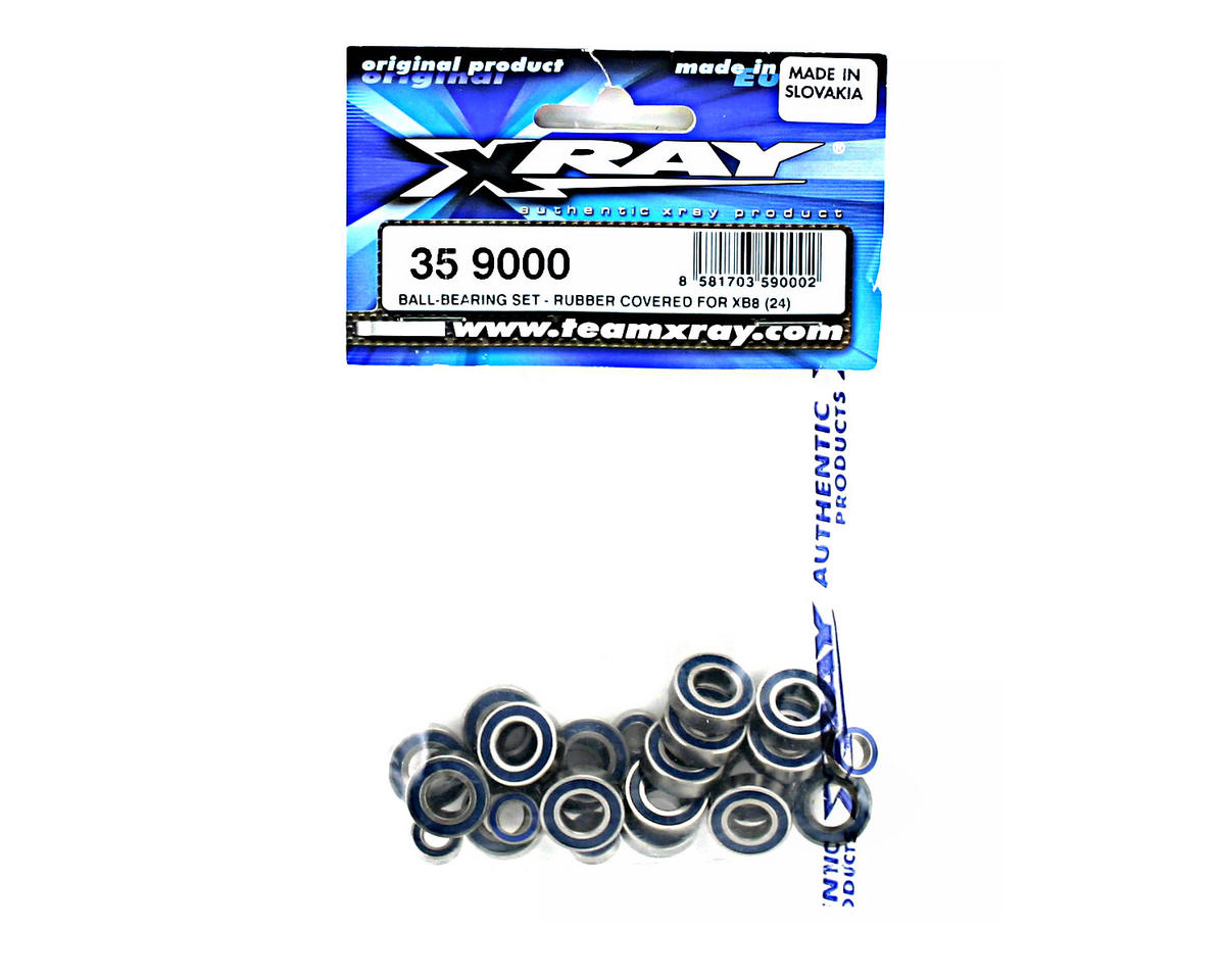 XRAY Ball-Bearing Set - Rubber Covered For XB8 (24)