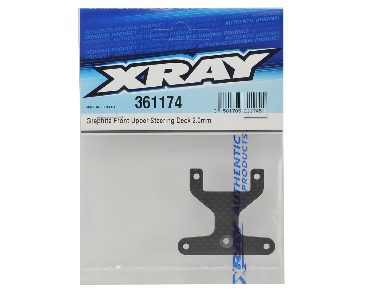 XRAY XB4 2016 2.0mm Graphite Front Upper Steering Deck
