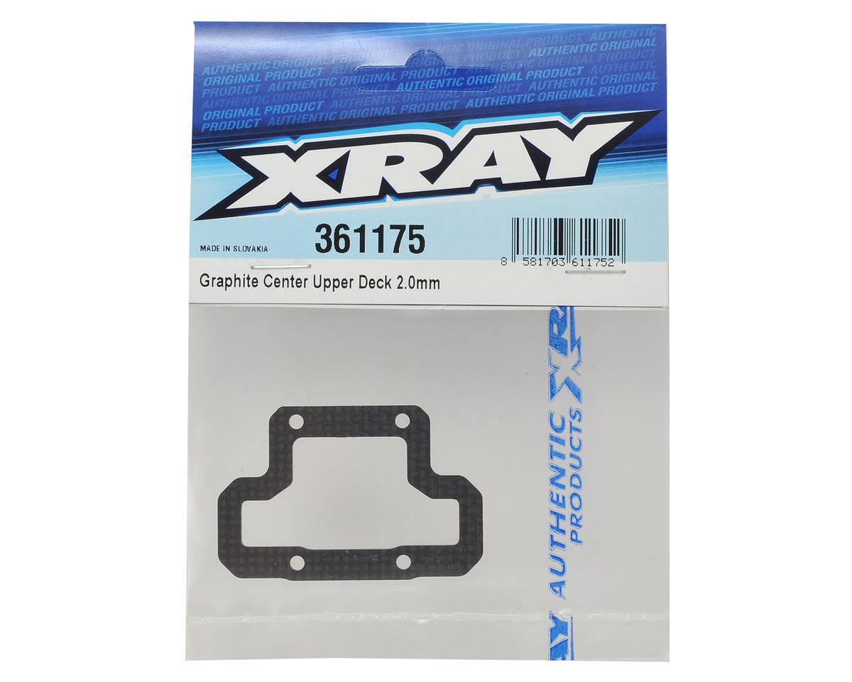 XRAY XB4 2016 2.0mm Graphite Center Upper Deck