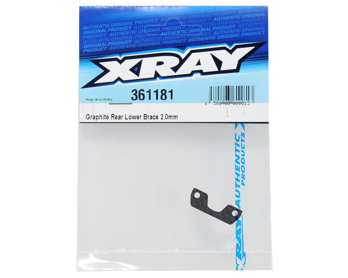 2.0mm Graphite Rear Lower Brace by XRAY