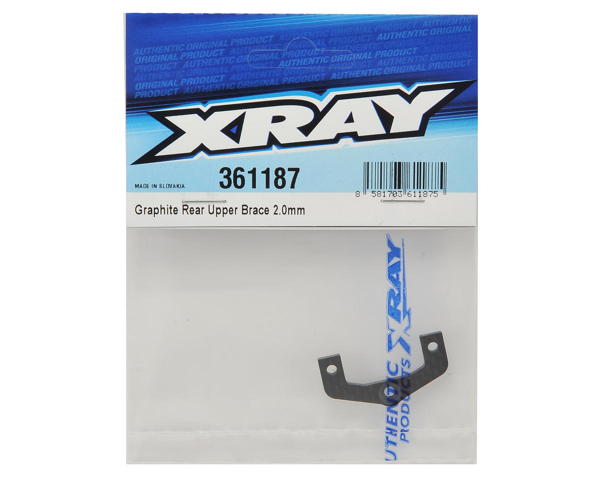 XRAY XB4 2016 2.0mm Graphite Rear Upper Brace