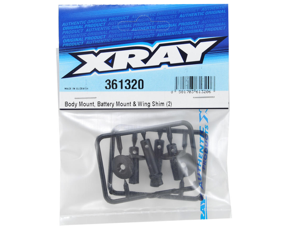XRAY Body Mount, Battery Mount & Wing Shim Set (2)