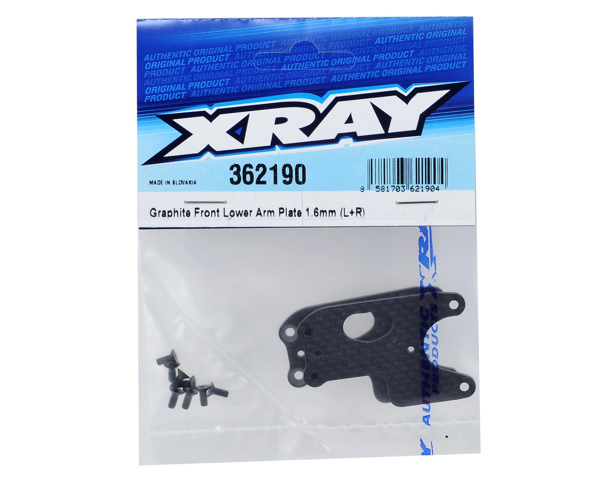 XRAY XB4 1.6mm Graphite Front Lower Arm Plate (2)