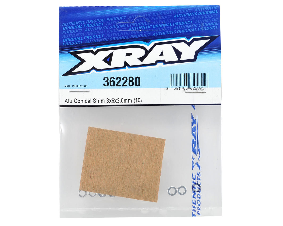 XRAY 3x6x2.0mm Aluminum Conical Shim (10)