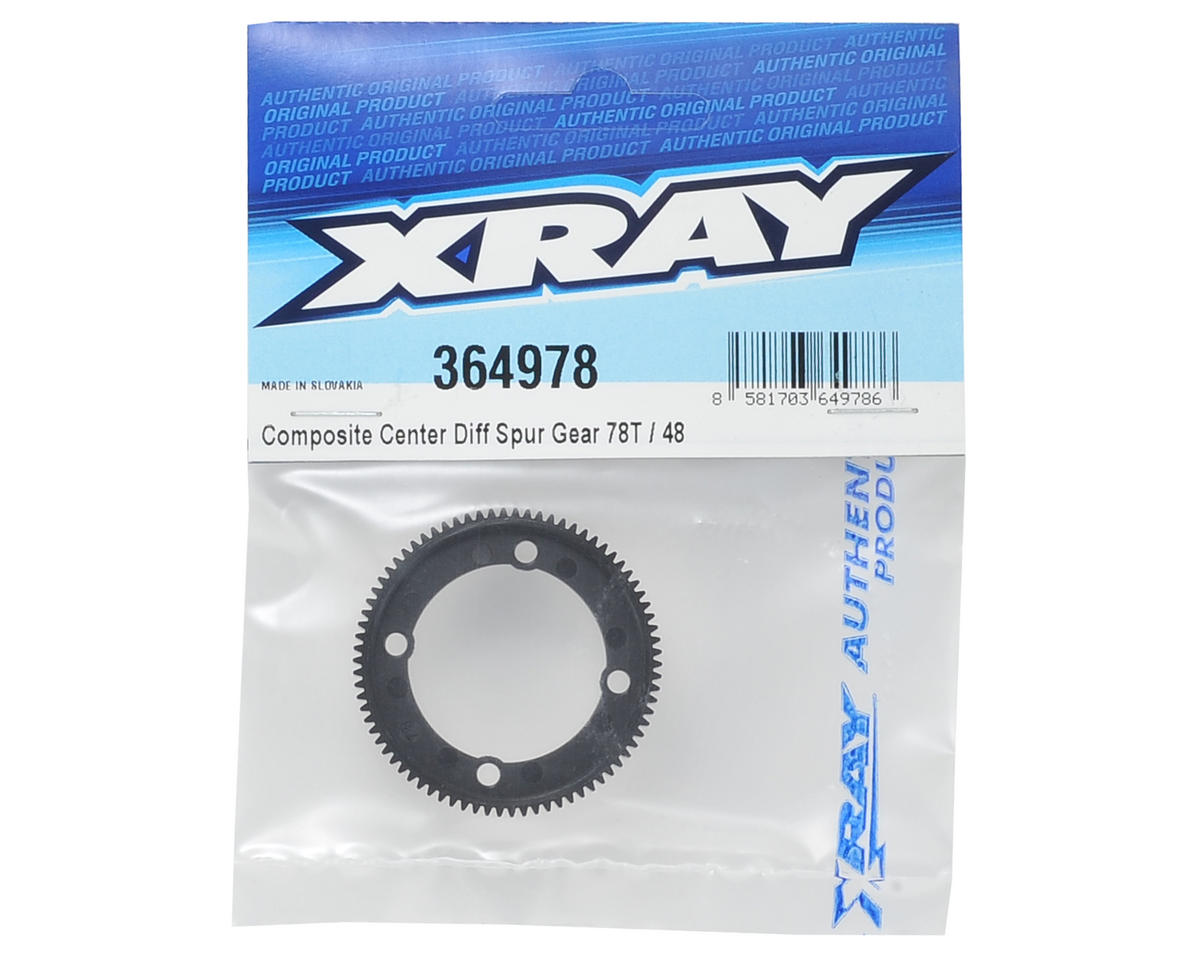 48P Composite Center Gear Differential Spur Gear (78T) by XRAY