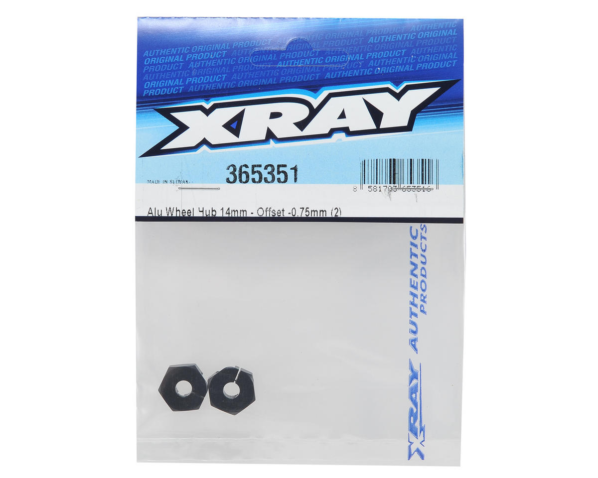 XRAY 14mm -0.75mm Offset Aluminum Wheel Hub Set (2)