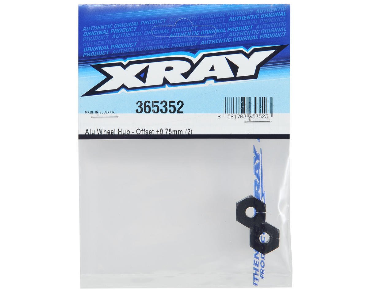 XRAY 14mm +0.75mm Offset Aluminum Wheel Hub Set (2)